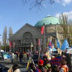 Protesta della Fondazione Laogai Europa alla Fiera di Hannover