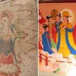 """CINA – Liaoning: antichi affreschi buddisti """"restaurati"""" con pitture di fumetti taoisti"""