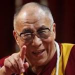 Il Dalai Lama in visita a Pomaia nel giugno 2014