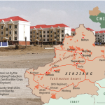 "Cina-Xinjiang meridionale-Bingtuan-""il 38° Reggimento ""."