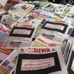 """Myanmar, giornali """"in lutto"""" per l'arresto di un reporter"""