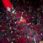 Monaco del monastero di Gonsar rilasciato dopo il termine di sei anni