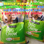 Cani e gatti morti per aver mangiato croccantini tossici della NESTLE' PURINA importati dalla Cina