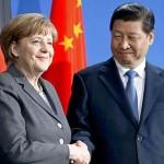 Pechino: Xi Jinping incontra la cancelliera tedesca Angela Merkel