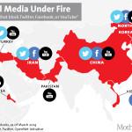Dall'Iran alla Cina, la mappa dei paesi che bloccano l'accesso ai social