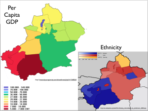 Xinjiang-GDP-and-Ethnicity-map