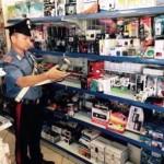 """Villa Literno, """"contraffazione"""": i carabinieri sequestrano 5.600 euro di materiale vario a esercizi commerciali cinesi."""