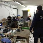 PADOVA/Campodarsego – Blitz polizia locale in un laboratorio cinese: lavoratori in nero e locali fatiscenti