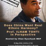 Occhi puntati sul Parlamento Europeo e la conferenza su Ilham Tohti
