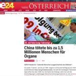 Austria: Sito web del più importante giornale nazionale racconta le atrocità del prelievo forzato di organi in Cina