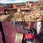 Larung Gar: ai monaci e alle monache sigillano le abitazioni