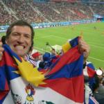 Un sostenitore della causa tibetana arrestato a Mosca prima della finale dei mondiali di calcio