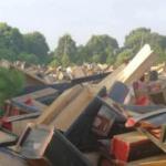 Cina-Jiangxi, sepolture vietate: distrutte centinaia di bare