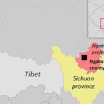 Quattro monaci tibetani sono stati arrestati per protesta contro un piano di costruzione.