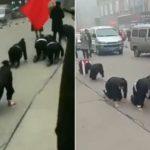 Cina, l'azienda umilia le dipendenti 'inefficienti': costrette a gattonare in strada.[Video]